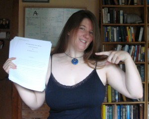 When I finished the first draft of my second novel, Caged Heart.